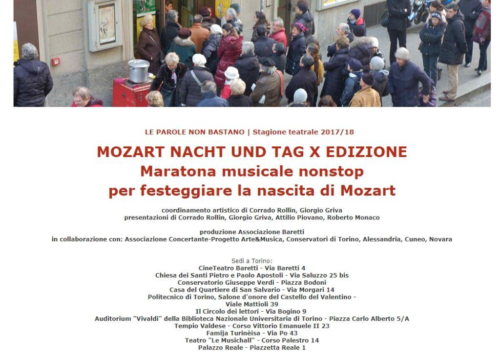 locandina rimpicciolita della Maratona Mozart di Torino. Mozart la caduta degli dei è l'unica novità editoriale dell'anno