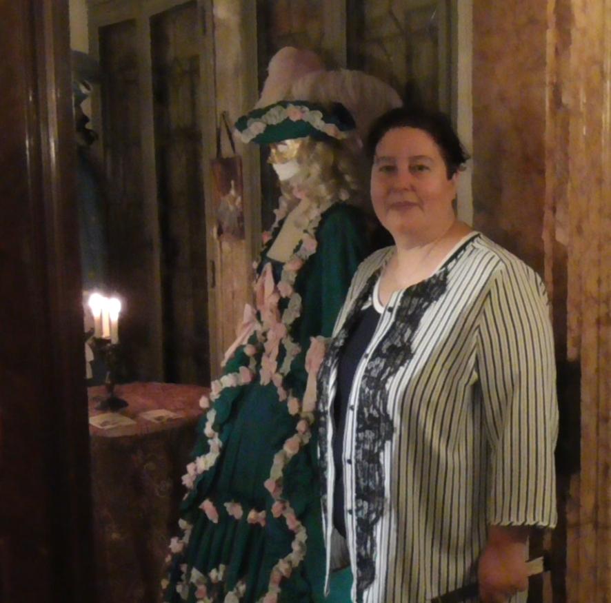 Anna Trombetta alla presentazione del volume su Mozart la caduta degli dei a Venezia, Salotto Giacomo Casanova