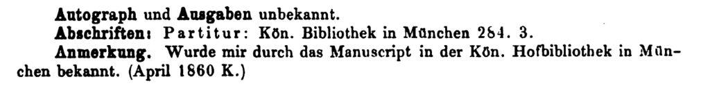 Köchel, catalogo delle Opere di Mozart, K 177 - autografi e edizioni