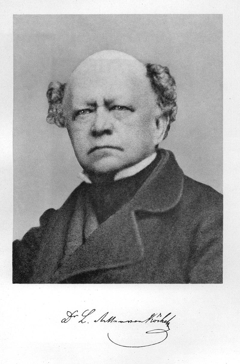 Ludwig-von-Köchel, che ha scritto il catalogo completo delle opere di Mozart
