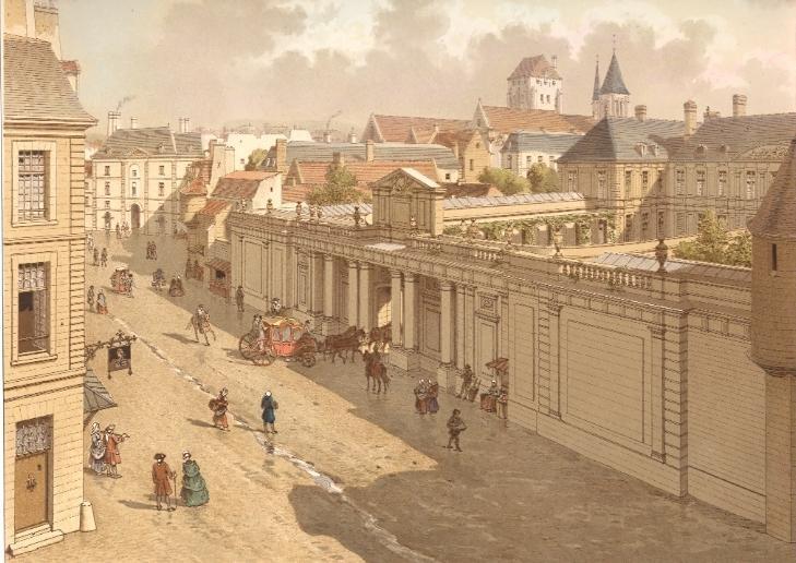 veduta di Parigi negli anni 1770